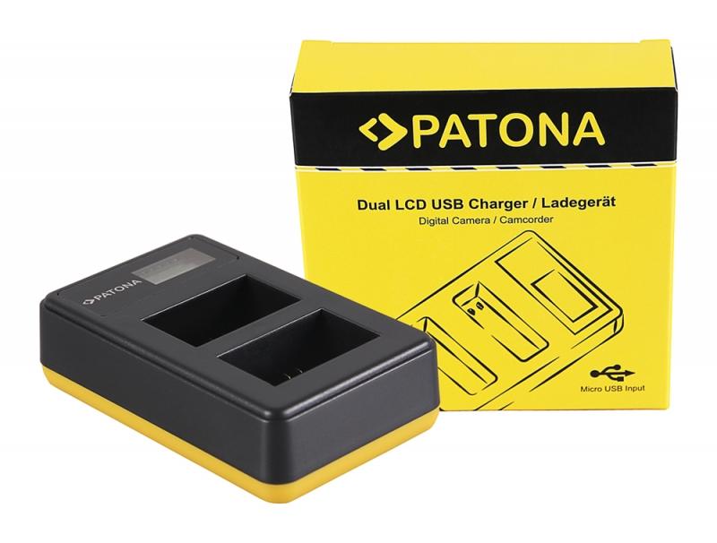 Sony Alpha 6300 ILCE-6300 a6300 Triple 3fach Ladegerät Pato 3x Akku NP-FW50 f